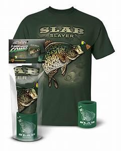 Crappie Slab Slayer T Shirt And Koozie Combo Gift Set