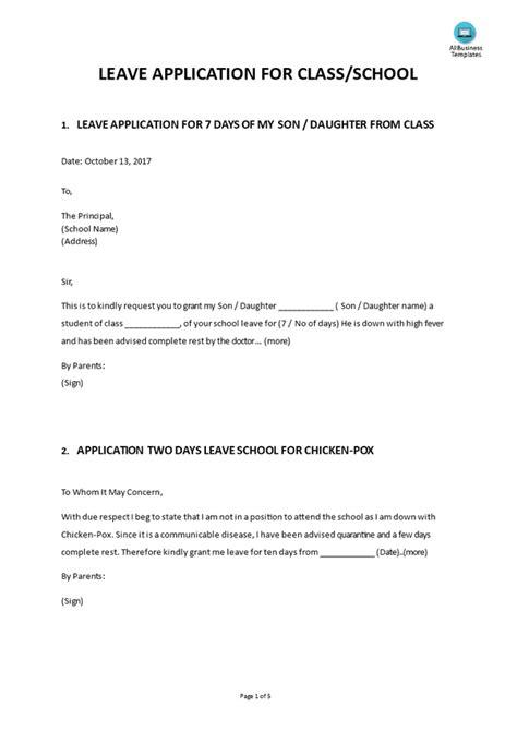 write  letter  sick leave   teacher