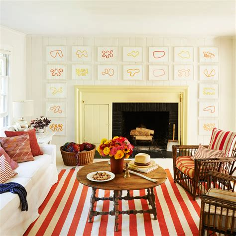 Decorating Living Room Walls - 20 ways to decorate with orange and yellow coastal living