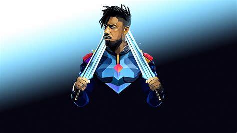 killmonger hd superheroes  wallpapers images