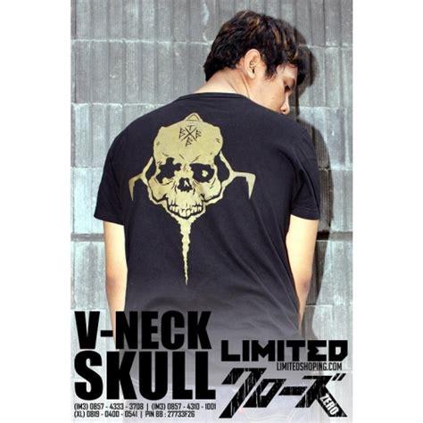 Kaos V Neck Genji Takiya ready stok v neck genji skull limitedshoping