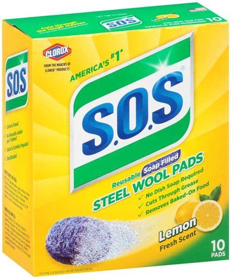 S.O.S Reusable Soap Filled Steel Wool Lemon Fresh Scent ...