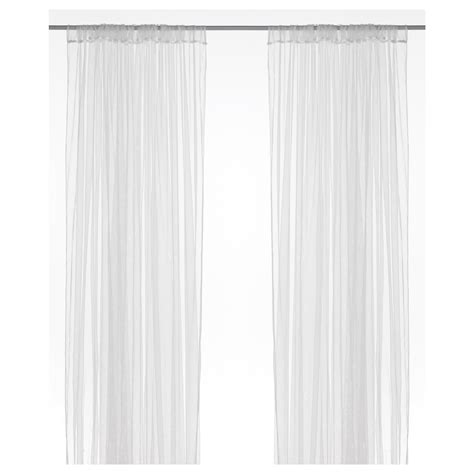 curtain sheers lill curtains 1 pair white 280 x 250 cm ikea