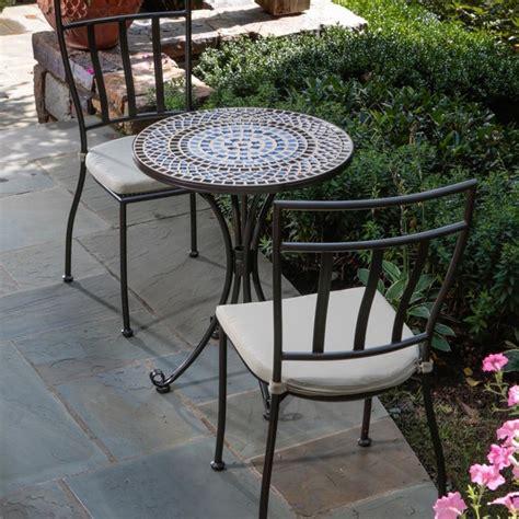alfresco home tremiti mosaic bistro set modern garden