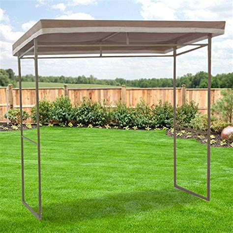 garden winds flat roof grill gazebo replacement canopy riplock  ebay