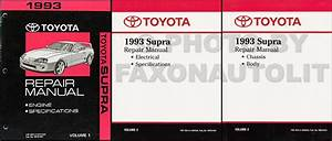 1993 Toyota Supra Automatic Transmission Repair Shop Manual Original