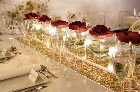 12 Hochzeit Tisch Dekoration Rose Licht Kerzen Wasser Rose