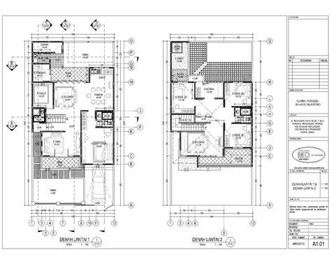 gambar desain rumah minimalis  lantai autocad desain rumah