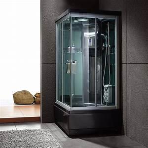 Cabine De Douche 170x80 : cabine de douche noire rectangulaire cabine de douche ~ Edinachiropracticcenter.com Idées de Décoration