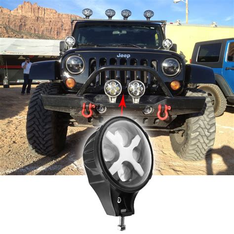 6 inch round led offroad lights 6 inch led fog light 60w round led driving light 12v 24v