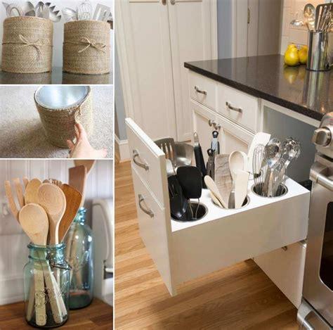 practical utensil storage ideas   kitchen