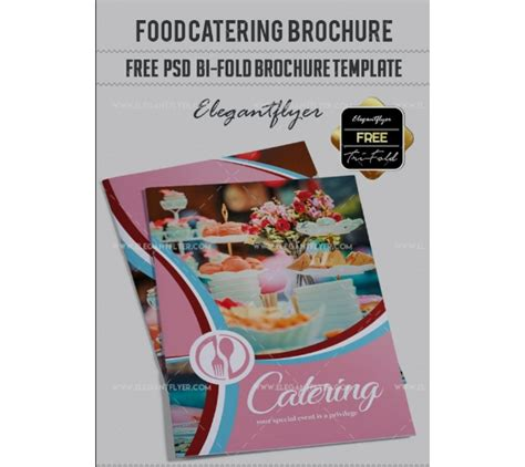 catering food brochure templates indesign psd