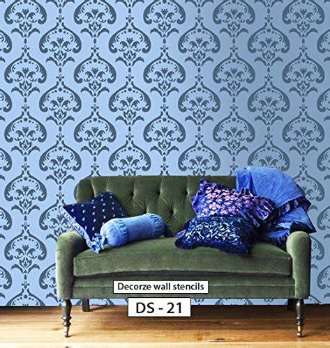 damask wall stencil design ds  buy   uae