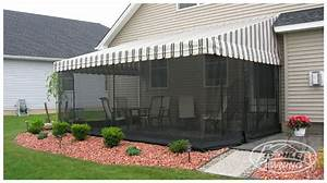 Retractable Awning With Netting