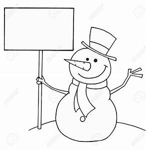 Snowman Clipart in Black And White for Free – 101 Clip Art