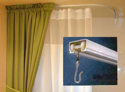 shower curtain rods in a variety of sizes shapes and