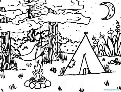 preschool camping theme coloring pages coloring