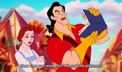 Gaston Disney Gifs Beast Beauty Read Animated