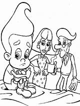 Jimmy Neutron Coloring Pages Printable sketch template