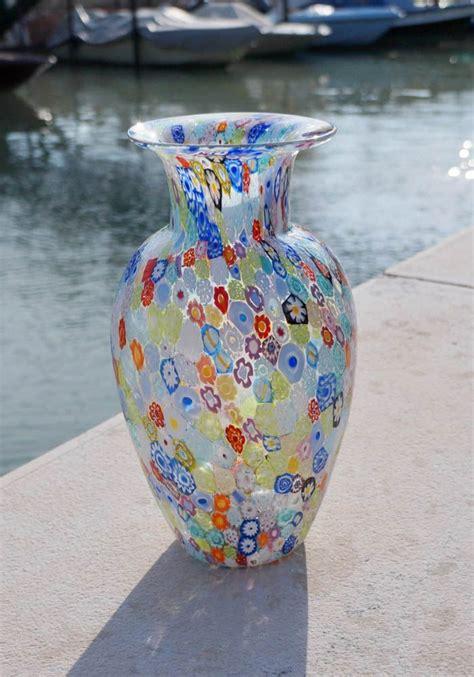 vasi in vetro di murano exclusive murano glass vase with murrina millefiori