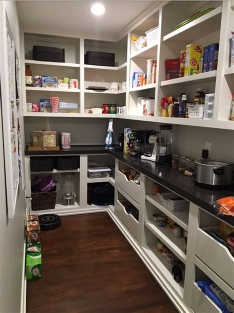 Pantry Shelving Solutions by Pantry With Counter For Appliances And Microwave