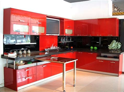 Kitchen Uv L by China Glossy Customized Wood Acrylic Kitchen Cabinets For