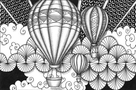 89 Best Adult Colouring~hot Air Balloons Images On