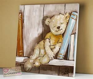 Tableau Chambre Enfant : tableau ourson pour chambre de petit garon vente tableau nounours pour dco de bb ~ Teatrodelosmanantiales.com Idées de Décoration