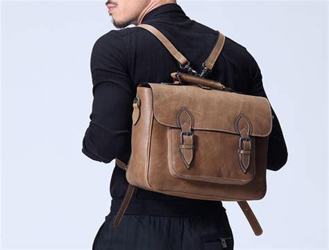 mens leather backpack business bag leather messenger bag