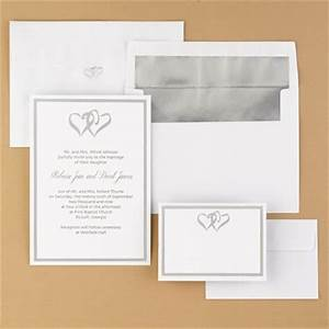 Wedding invitations wedding invitation anns bridal for Blank heart wedding invitations
