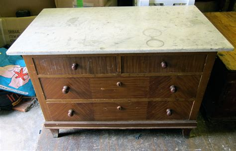 cabinet makers warehouse stuart marble top german pine chest of drawers