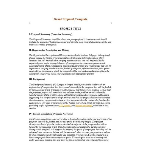 grant proposal templates nsf  profit research
