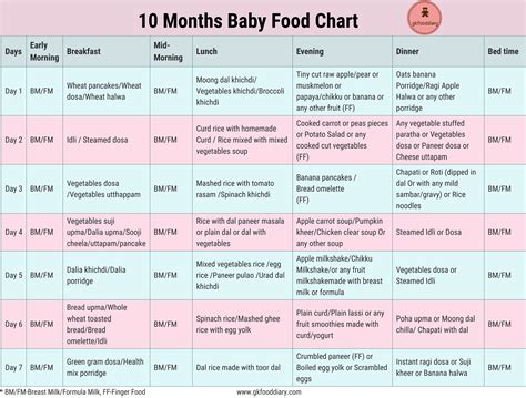 months indian baby food chart food chart  babies