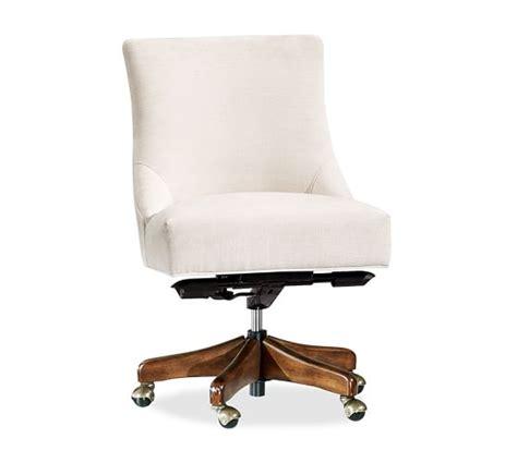 non tufted swivel desk chair pottery barn