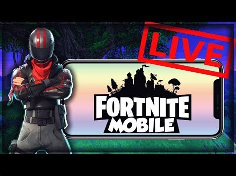 fortnite mobile gameplay stream playing  viewers