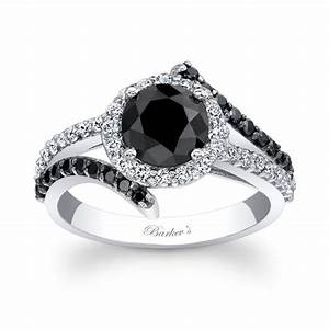 Barkev39s black diamond engagement ring bc 7857lbk for Black wedding rings with diamonds
