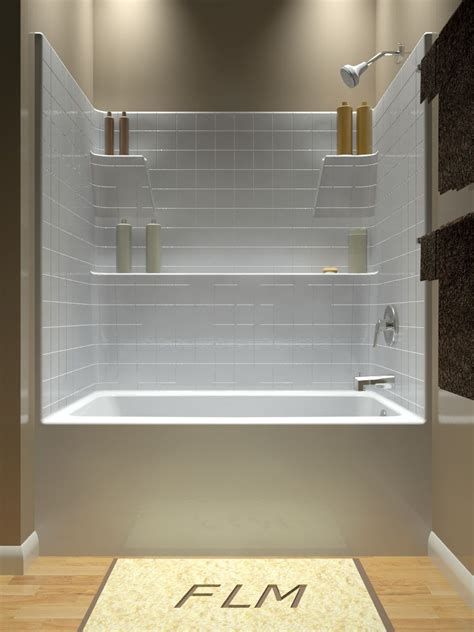 Drop In Tub Shower Combo by Tub And Shower One Another Option With