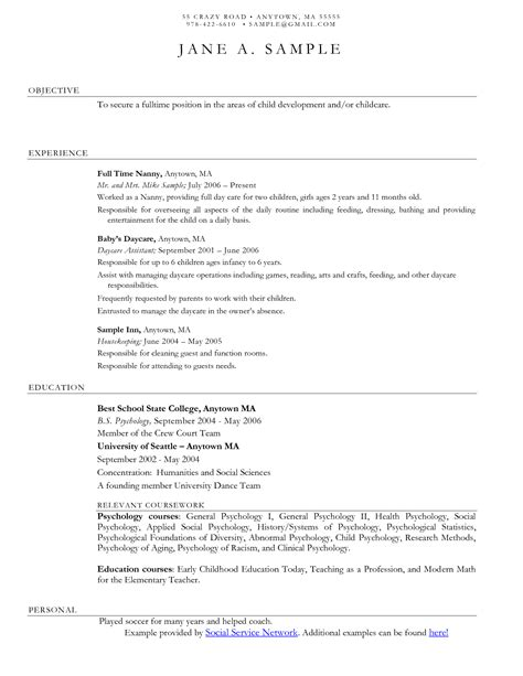 Simple Resume Exles For by Pin Oleh Jobresume Di Resume Career Termplate Free