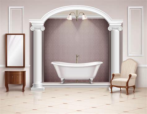 Bathroom Interior Design Realistic Vector 03  Vector Life