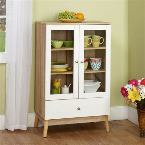 shelf cabinet with doors white china cabinet wood kitchen cupboard glass