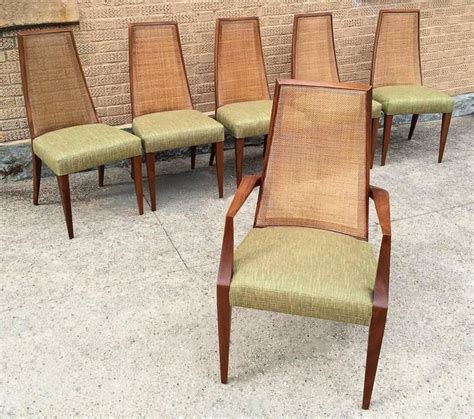 mid century modern back dining chairs by