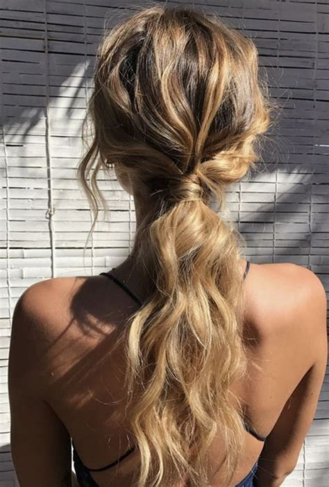 cute easy ponytails ideas  pinterest cute