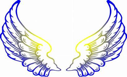 Wings Angel Clip Clipart Yellow Cliparts Sayap
