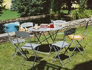Table De Jardin Fermob : grande table floreal fermob de jardin ronde 4 5 personnes ~ Dailycaller-alerts.com Idées de Décoration