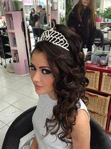 Tiara hairstyle Shayna Sweet 16 Pinterest Wedding, Tiara hairstyles and Tiaras