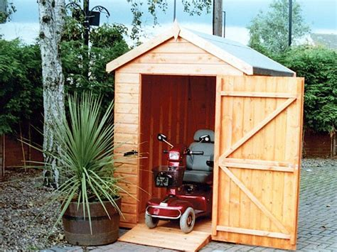 wooden garden sheds mobility apex  pent shed