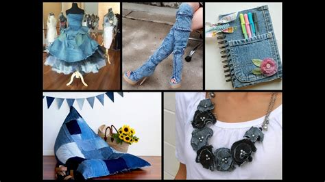 recycled denim craft ideas simple diy  jeans projects