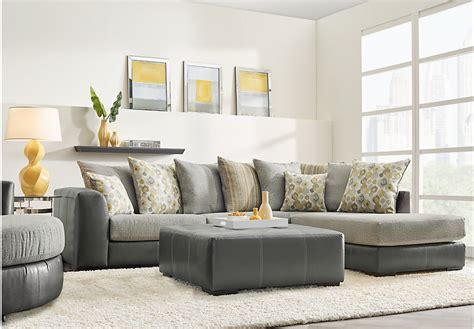 living room wall stafford gray 3 pc sectional living room clearance gray