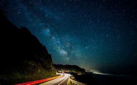 Milky Way Stars Night Road Photography Wallpapers
