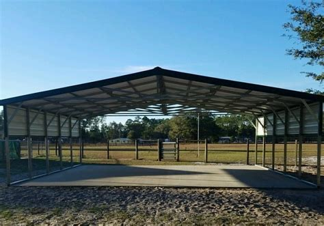 Building A Metal Carport by 30x25 Carport Central Florida Steel Buildings And Supply